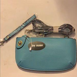 Joy Susan Bags - Joy Susan Convertible Clutch Wristlet Light Blue
